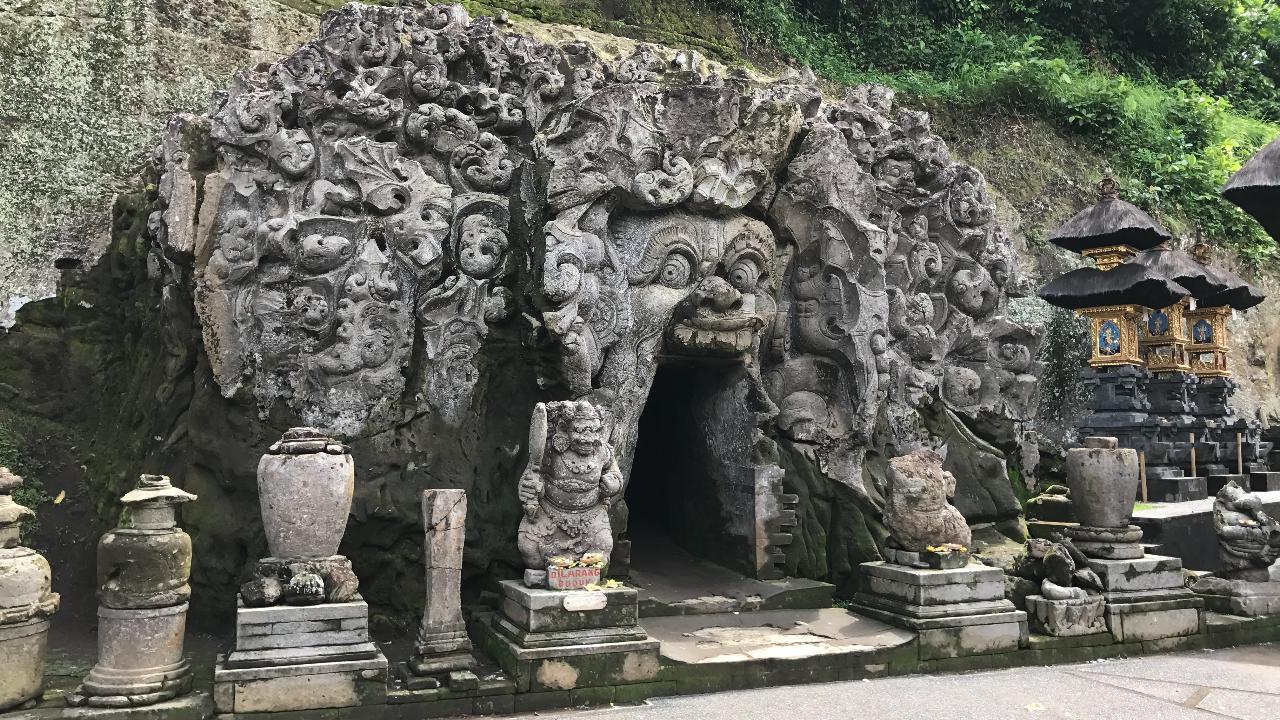 Goa Gajah elephant cave near Ubud, Bali