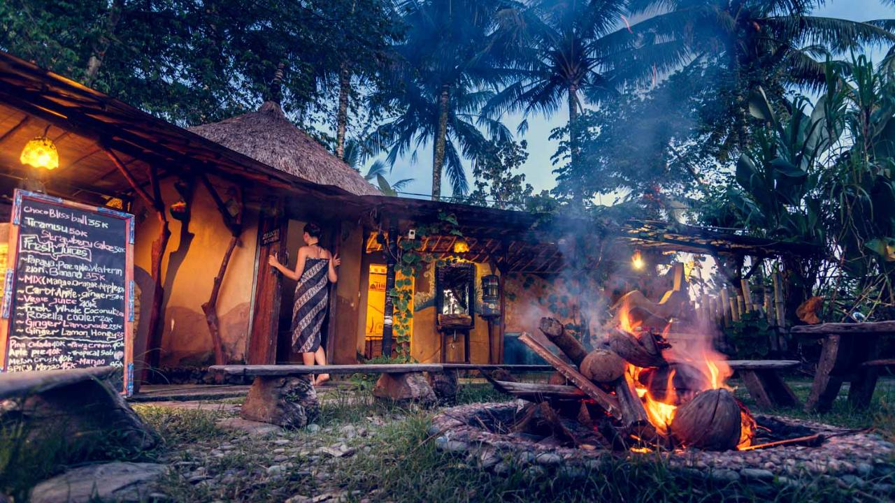 Herbal steam sauna in Ubud, Bali