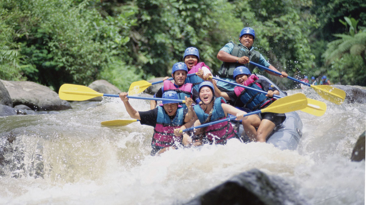 People rafting on the Ayung river